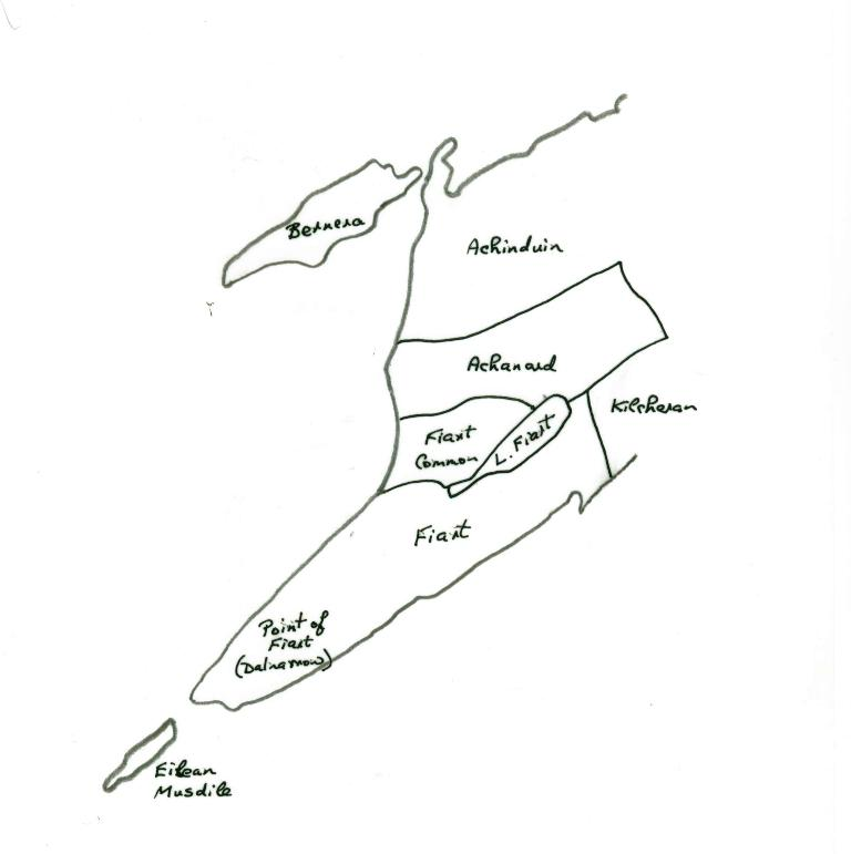 Sketch map of Achanard & surrounding townships (approximate boundaries only)