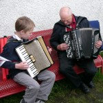 Murray has an accordion lesson