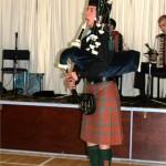 Piper opens ceilidh