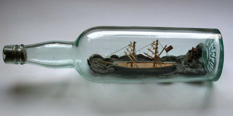 McDonald Ship in a Bottle.  Museum Object LISDD:2006.2