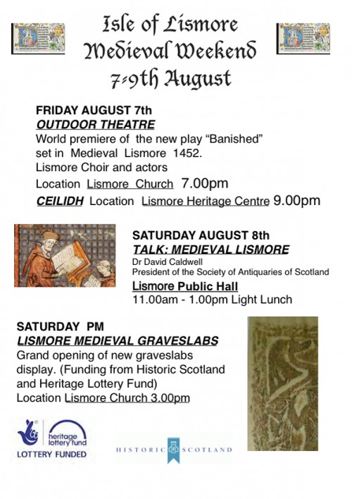 Medieval Weekend Poster | Friday and Saturday events
