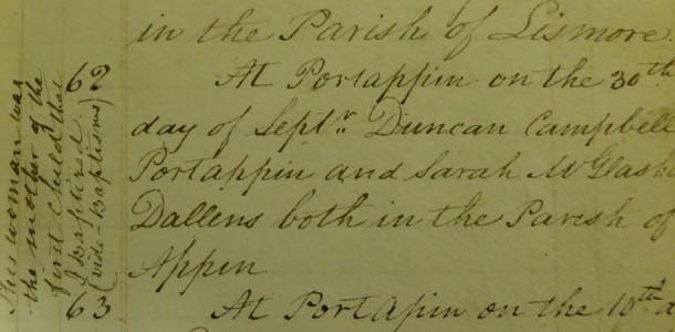 Rev Gregor McGregor's Private Register (Wedding 62)