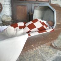 The Hawthorn House Cradle (LISDD:2014.210). Bed dimensions 90cm x 47cm x 27cm